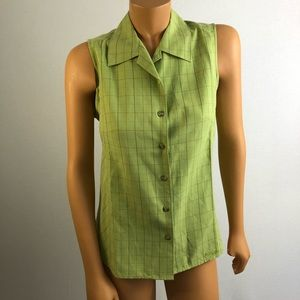 Columbia woman Sz M sleeveless green shirt
